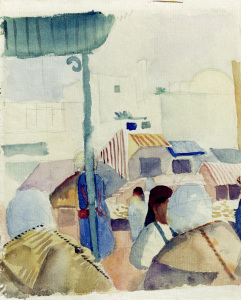 Picture no: 30006504 A.Macke / Market in Tunis II / 1914 Created by: Macke, August