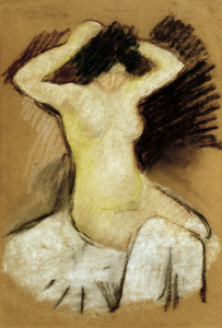 Picture no: 30006562 August Macke /Nude on white Drapes/ 1909 Created by: Macke, August