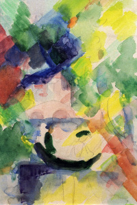 Picture no: 30006570 A.Macke, Couple in a dinghy / 1913 Created by: Macke, August