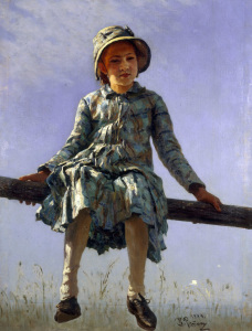 Picture no: 30006736 Ilya Repin / Butterfly / 1884 Created by: Repin, Ilja Jefimowitsch