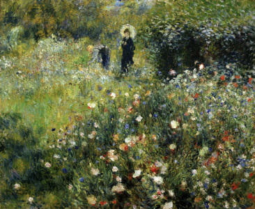 Picture no: 30006864 Renoir / Woman with parasol / 1875 Created by: Renoir, Pierre-Auguste