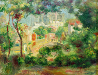Picture no: 30006880 Renoir / The gardens o.Montmartre / 1896 Created by: Renoir, Pierre-Auguste