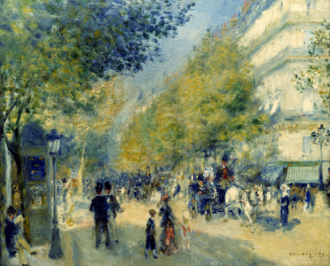 Picture no: 30006892 Paris/The Grand Boulevards/Painting Created by: Renoir, Pierre-Auguste