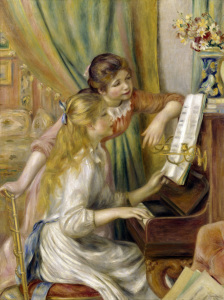Picture no: 30006918 Renoir / Two girls at the piano / 1892 Created by: Renoir, Pierre-Auguste