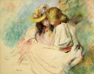 Picture no: 30006948 Renoir / Two reading girls / c.1890 Created by: Renoir, Pierre-Auguste
