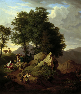 Picture no: 30006970 Richter / Shepherds at Devotional / 1833 Created by: Richter, Ludwig