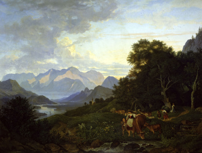 Picture no: 30006990 L.Richter, Salzburg landscape /1830 Created by: Richter, Ludwig
