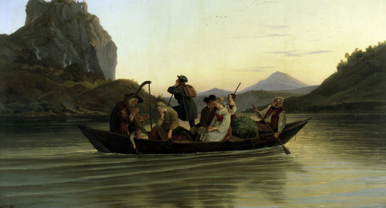 Picture no: 30007004 Ludwig Richter / Crossing the Elbe /1837 Created by: Richter, Ludwig