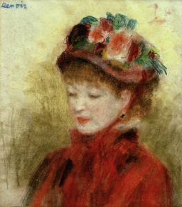 Picture no: 30007014 Renoir/Young woman wit.flower hat/c.1877 Created by: Renoir, Pierre-Auguste