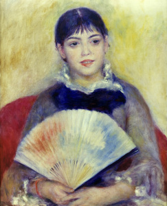 Picture no: 30007018 Renoir / Woman with fan / c.1880 Created by: Renoir, Pierre-Auguste