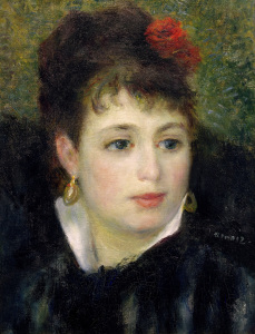 Picture no: 30007020 A.Renoir, Woman with Rose Created by: Renoir, Pierre-Auguste