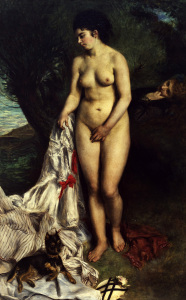 Picture no: 30007042 Renoir / Bather with a pinscher / 1870 Created by: Renoir, Pierre-Auguste