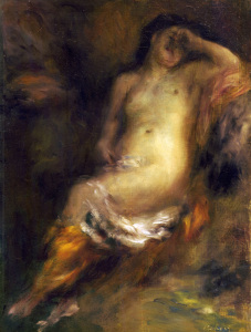 Picture no: 30007080 A.Renoir, Bather Sunken into Sleep Created by: Renoir, Pierre-Auguste