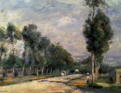 Picture no: 30007082 Renoir / Road near Louveciennes / 1895 Created by: Renoir, Pierre-Auguste