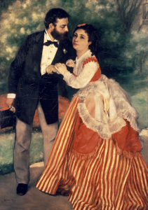 Picture no: 30007084 A. Renoir / The Sisley Family / 1868 Created by: Renoir, Pierre-Auguste