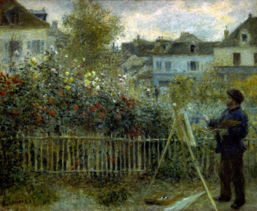 Picture no: 30007088 Claude Monet painting / Renoir Created by: Renoir, Pierre-Auguste