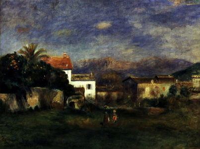 Picture no: 30007124 Auguste Renoir/Vue de Cagnes/ post 1900 Created by: Renoir, Pierre-Auguste