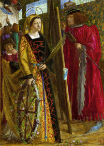 Picture no: 30007160 Rossetti / St Catherine / Painting, 1857 Created by: Rossetti, Dante Gabriel