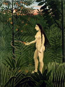 Picture no: 30007300 H. Rousseau / Eve receives the Apple Created by: Rousseau, Henri Julien Felix