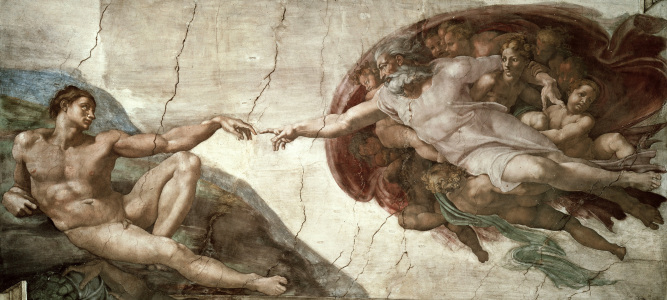 Picture no: 30007310 Michelangelo / Creation of Adam / 1511 Created by: Buonarroti, Michelangelo (Michelangelo di Lodovico Buonarroti Simoni)