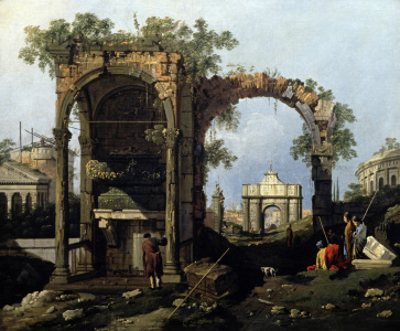 Picture no: 30007377 Canaletto / Capriccio and classical ruin Created by: Canal, Giovanni Antonio & Bellotto, Bernardo