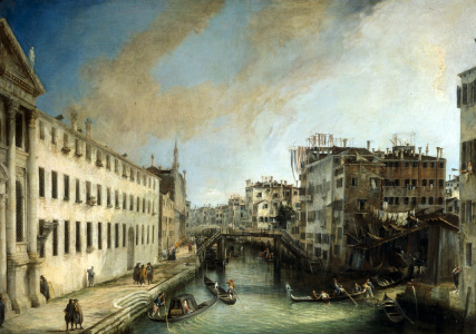 Picture no: 30007407 Venice, Rio dei Mendicanti / Canaletto Created by: Canal, Giovanni Antonio & Bellotto, Bernardo