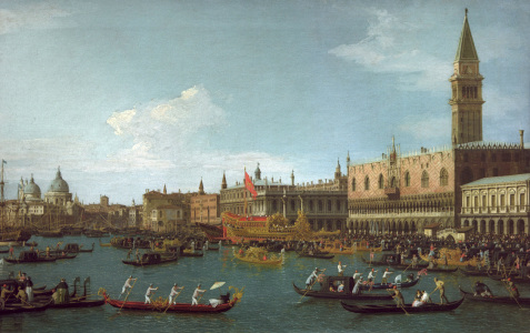 Picture no: 30007411 Venice / Il Bucintoro / Canaletto Created by: Canal, Giovanni Antonio & Bellotto, Bernardo