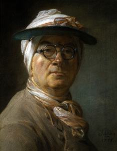 Picture no: 30007419 Chardin / Self-portrait with Glasses Created by: Chardin, Jean Siméon