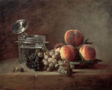 Picture no: 30007435 Chardin / Crystal Bowl, Fruit / Painting Created by: Chardin, Jean Siméon