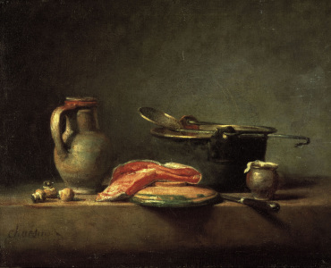 Picture no: 30007445 Chardin / Kitchen still-life / c.1732 Created by: Chardin, Jean Siméon