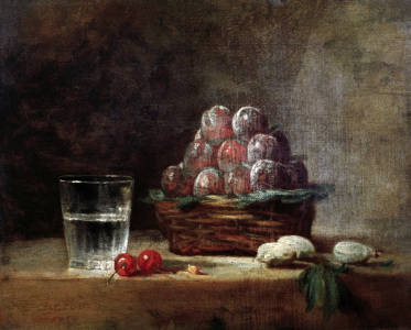 Picture no: 30007451 Chardin / Baket of Plums / 1759 Created by: Chardin, Jean Siméon