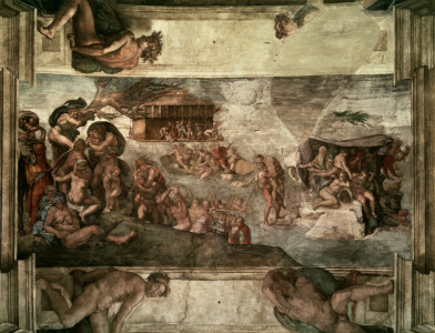 Picture no: 30007453 Michelangelo, The Flood Created by: Buonarroti, Michelangelo (Michelangelo di Lodovico Buonarroti Simoni)