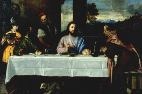 Picture no: 30007481 Disciples in Emmaus / Titian / c.1535/40 Created by: Vecellio, Tiziano