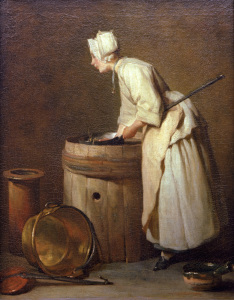 Picture no: 30007489 J.B.S.Chardin / The Pot Cleaner Created by: Chardin, Jean Siméon