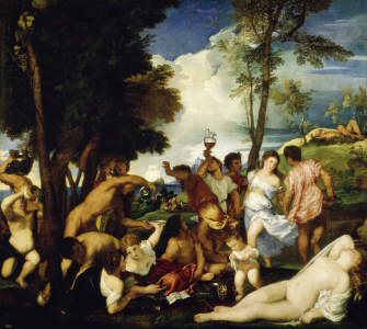 Picture no: 30007501 Titian / Bacchanalia / Paint. / 1518/19 Created by: Vecellio, Tiziano