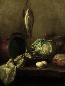 Picture no: 30007511 Chardin / Still Life / Kettle & Food Created by: Chardin, Jean Siméon
