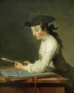 Picture no: 30007513 J.B.S.Chardin, The draughtsman / 1737 Created by: Chardin, Jean Siméon