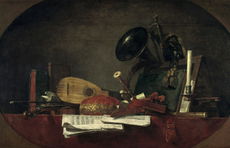 Picture no: 30007517 Chardin / Attributes of Music / Painting Created by: Chardin, Jean Siméon