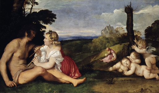Picture no: 30007519 Titian / The Three Ages of Man / c. 1512 Created by: Vecellio, Tiziano