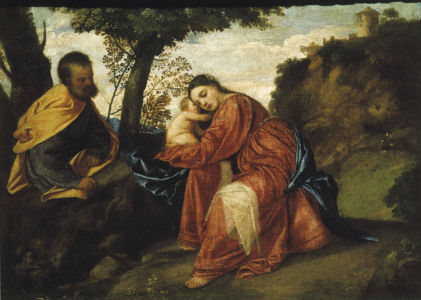 Picture no: 30007525 Titian / Rest on the Flight into Egypt Created by: Vecellio, Tiziano