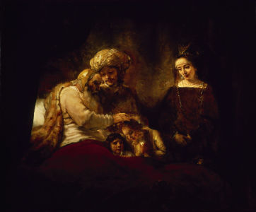 Picture no: 30007547 Rembrandt / Jacob's Blessing / 1656 Created by: Rembrandt Harmenszoon van Rijn
