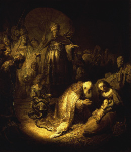 Picture no: 30007573 Rembrandt / Adoration of the Magi / 1632 Created by: Rembrandt Harmenszoon van Rijn