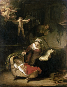 Picture no: 30007585 The Holy Family / Rembrandt / 1645 Created by: Rembrandt Harmenszoon van Rijn