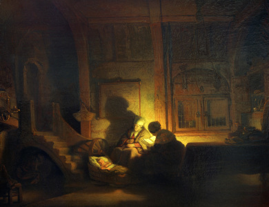 Picture no: 30007621 Rembrandt (Workshop), Holy Family Created by: Rembrandt Harmenszoon van Rijn