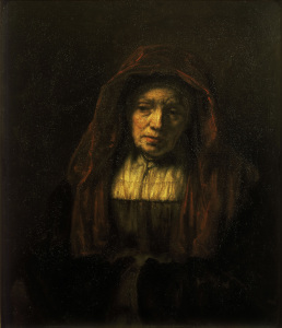Picture no: 30007661 Rembrandt / Old woman with head scarf Created by: Rembrandt Harmenszoon van Rijn