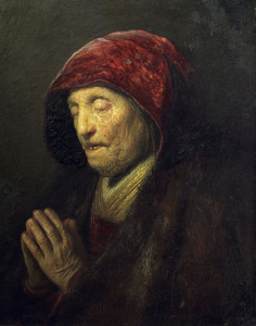 Picture no: 30007715 Rembrandt, Betende alte Frau Created by: Rembrandt Harmenszoon van Rijn