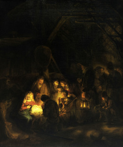 Picture no: 30007719 Rembrandt / Adoration of the shepherds Created by: Rembrandt Harmenszoon van Rijn