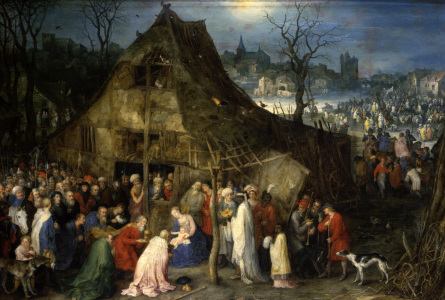 Picture no: 30007737 J. Brueghel the eld., Worshipping Kings Created by: Jan Brueghel der Ältere