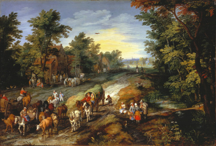 Picture no: 30007739 Jan Brueghel the Elder / Country Road Created by: Jan Brueghel der Ältere
