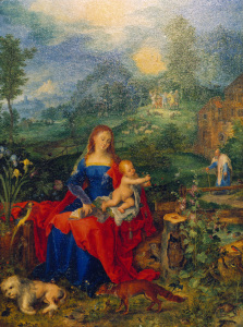 Picture no: 30007753 Mary with many animals / Brueghel / 1604 Created by: Jan Brueghel der Ältere